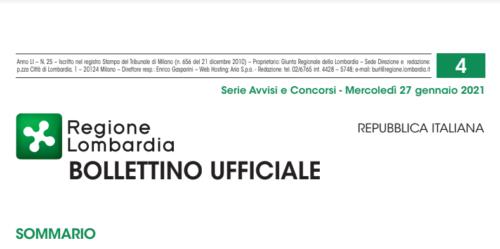 Regione Lombardia Bollettino Ufficiale